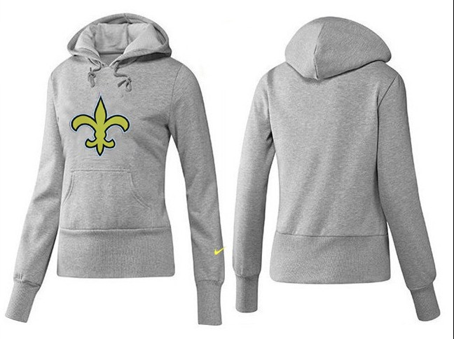 Nike Saints Team Logo Grey Women Pullover Hoodies 01