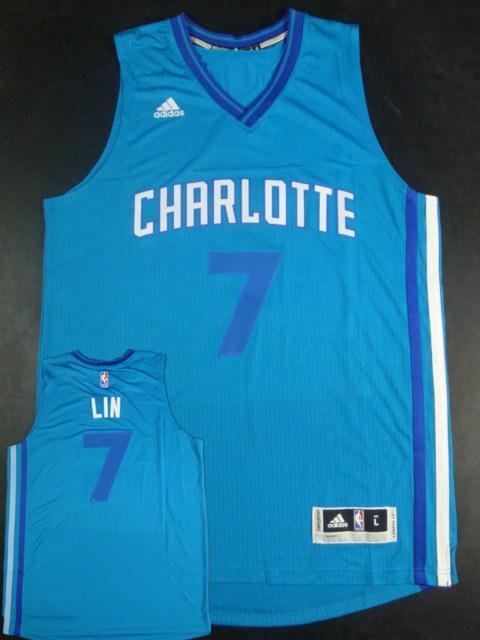 Hornets 7 Jeremy Lin Teal New Revolution 30 Jersey