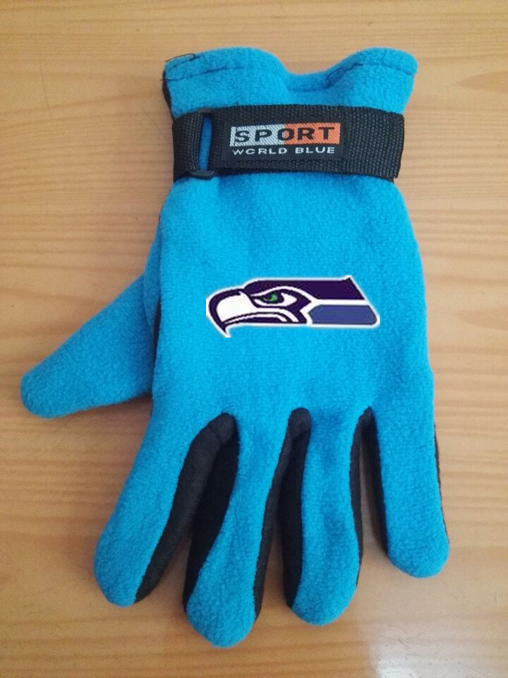 Seahawks Winter Velvet Warm Sports Gloves4
