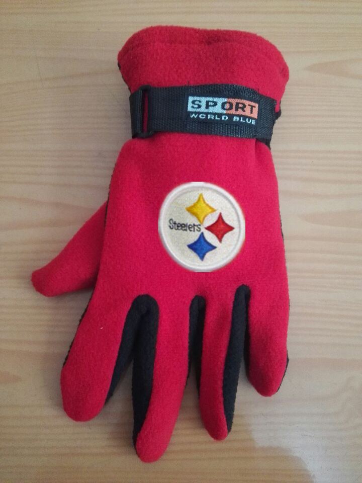 Steelers Winter Velvet Warm Sports Gloves5