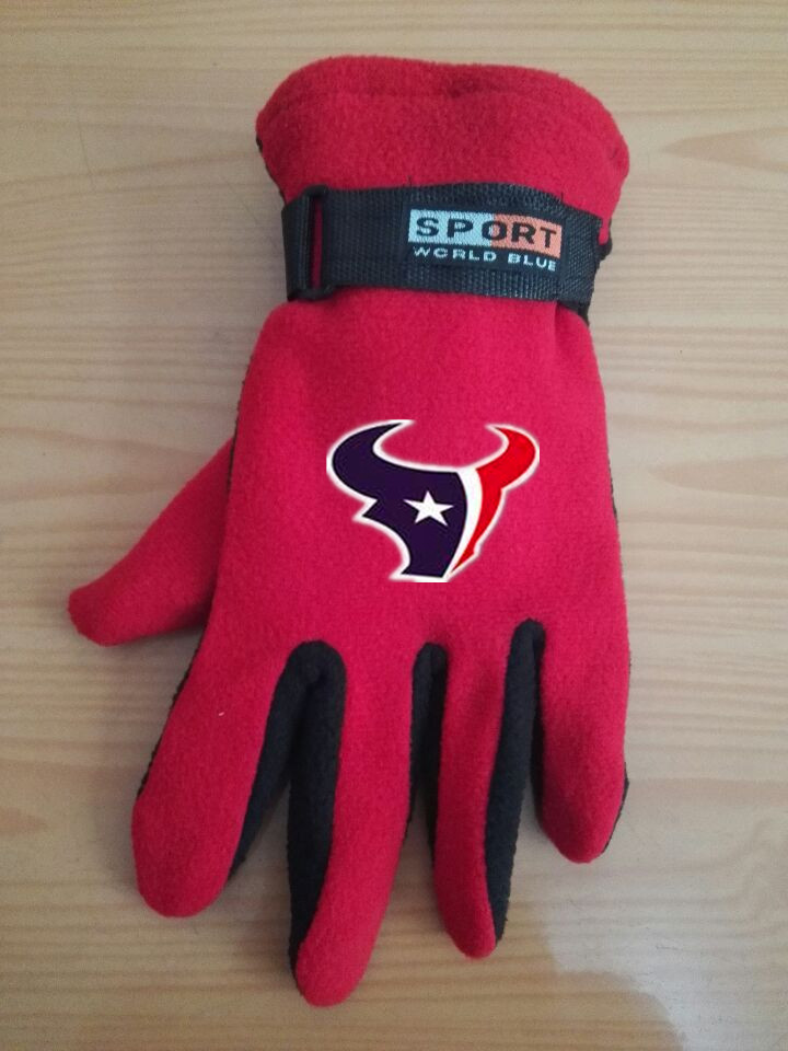 Texans Winter Velvet Warm Sports Gloves3