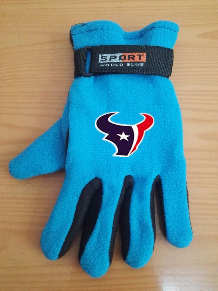 Texans Winter Velvet Warm Sports Gloves6