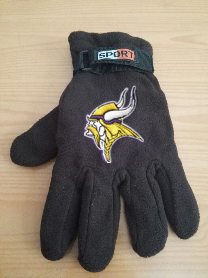 Vikings Winter Velvet Warm Sports Gloves2