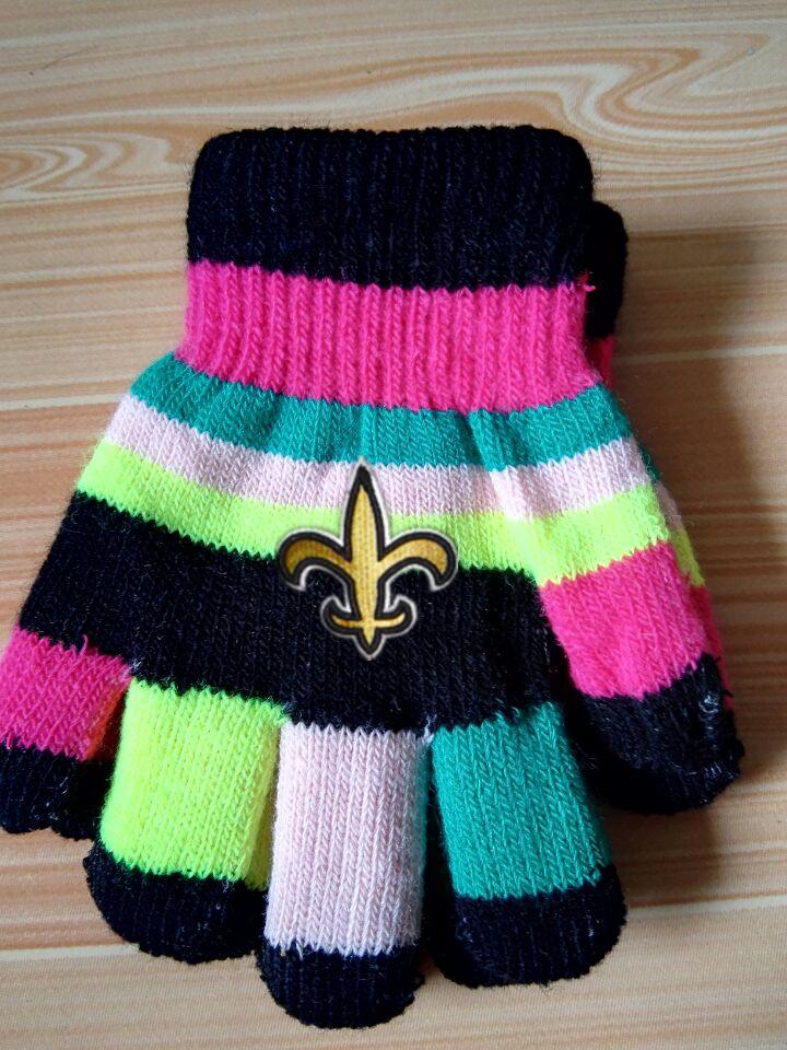 Saints Kids Knit Gloves3