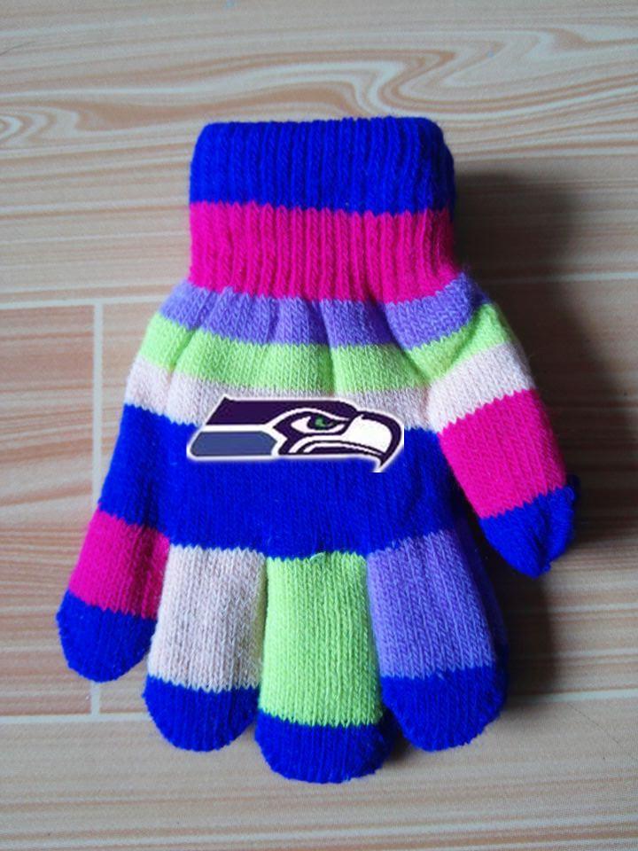 Seahawks Kids Knit Gloves3