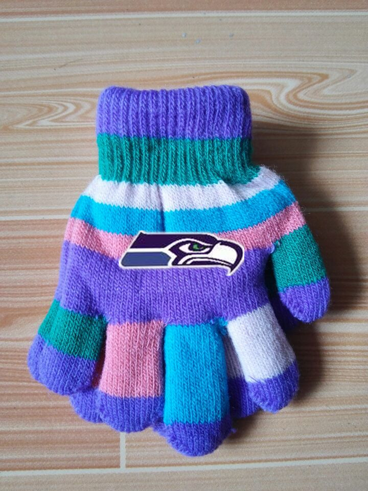 Seahawks Kids Knit Gloves5