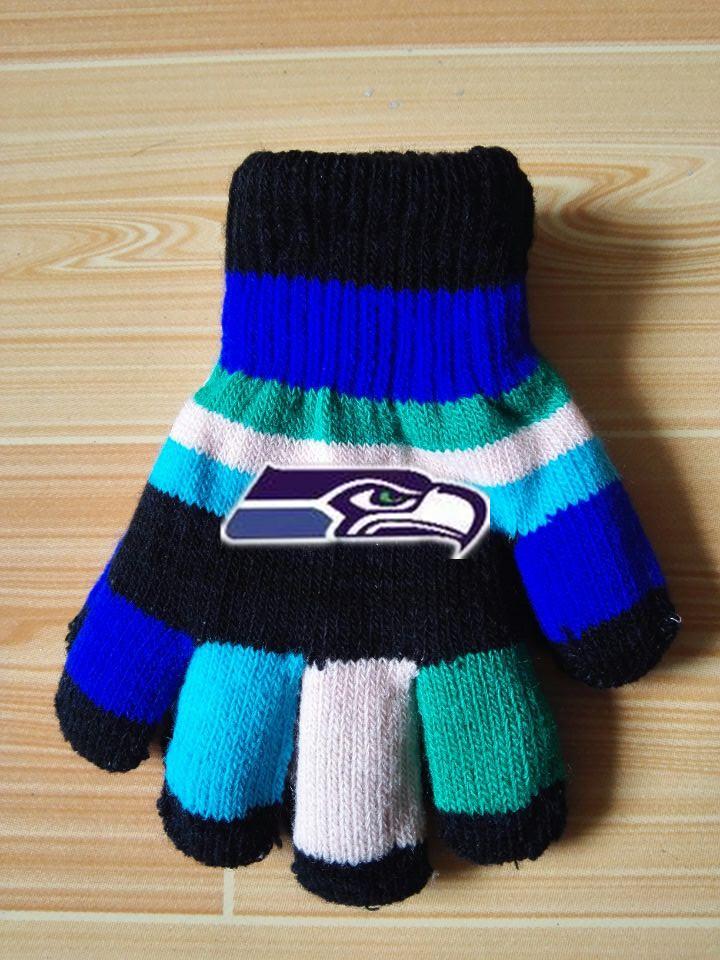 Seahawks Kids Knit Gloves6