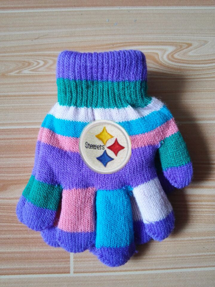 Steelers Kids Knit Gloves4