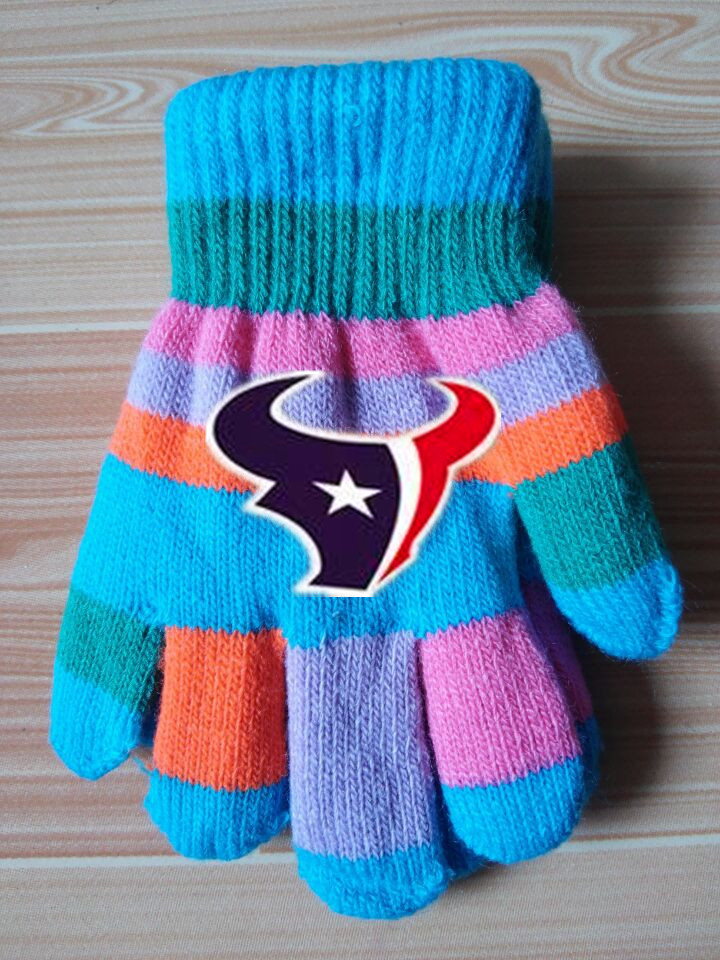 Texans Kids Knit Gloves2