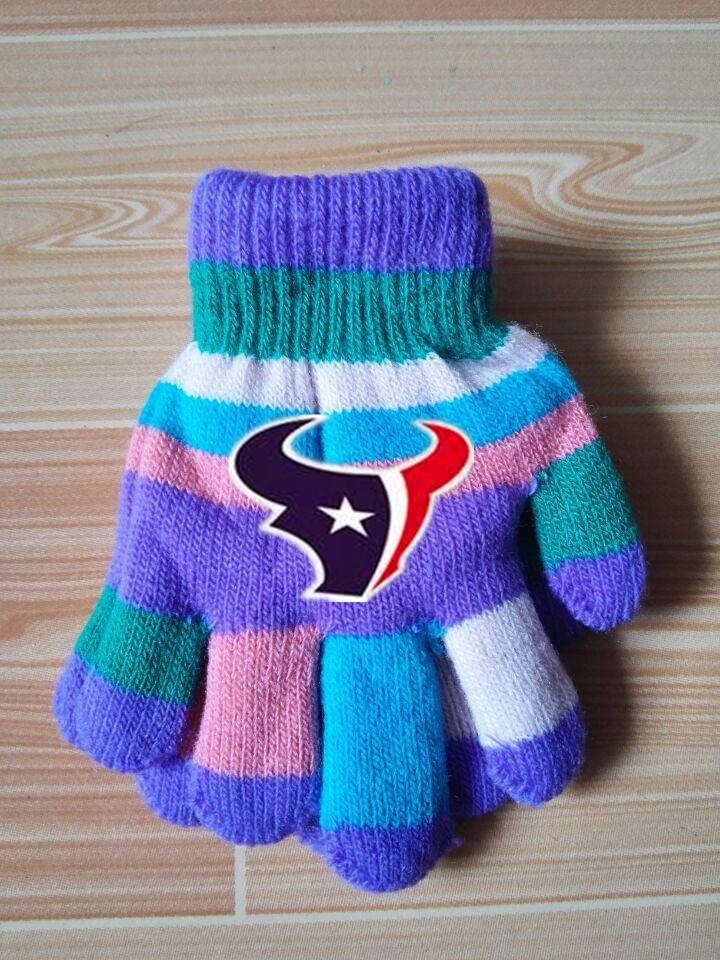 Texans Kids Knit Gloves5