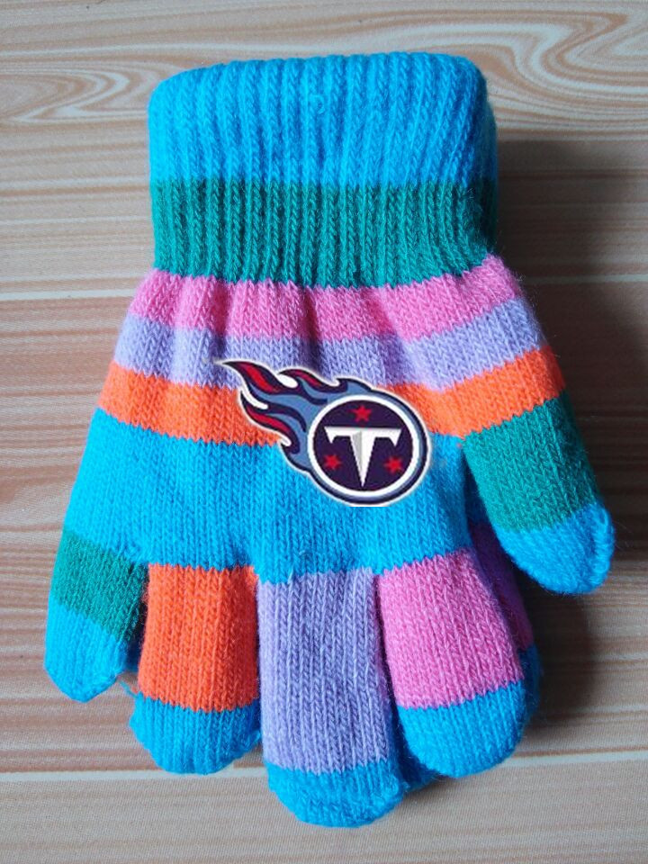 Titans Kids Knit Gloves2