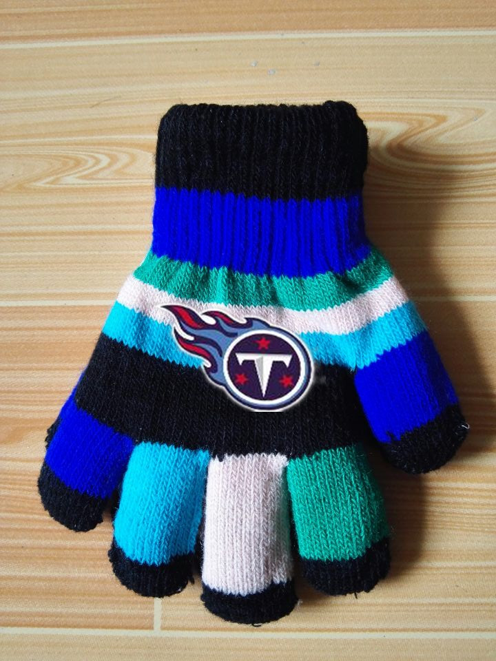 Titans Kids Knit Gloves4