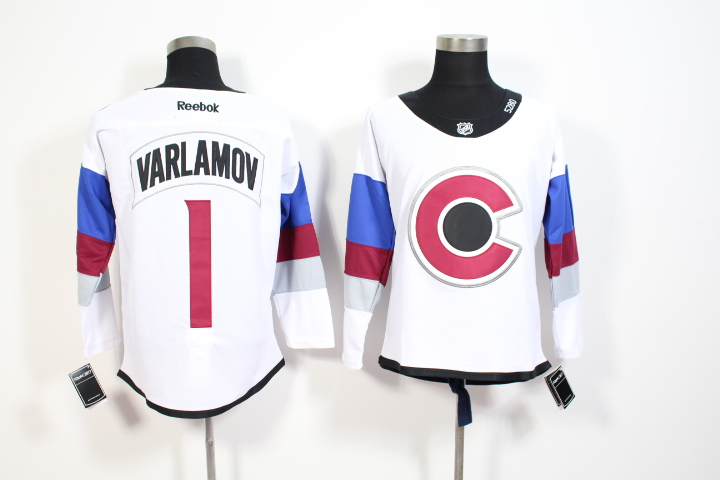 Avalanche 1 Semyon Varlamov White 2016 Stadium Series Reebok Jersey
