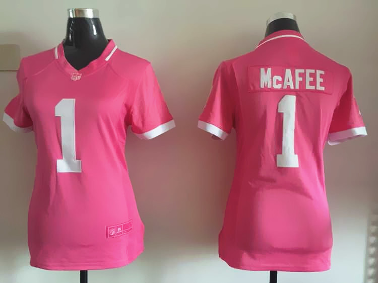 Nike Colts 1 Pat McAfee Pink Bubble Gum Women Game Jersey