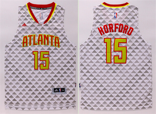 Hawks 15 Al Horford White Swingman Jersey