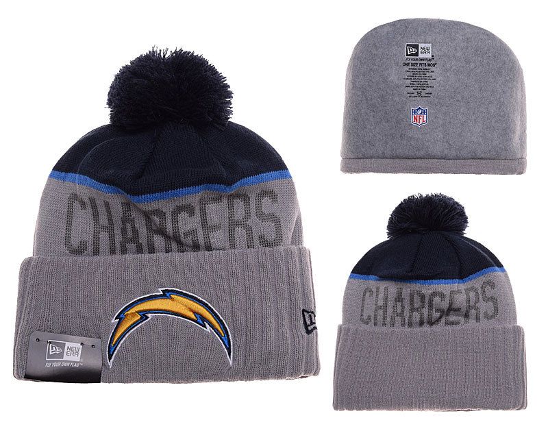 Chargers Grey Fashion Knit Hat SD