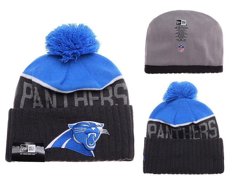Panthers Black Fashion Knit Hat SD