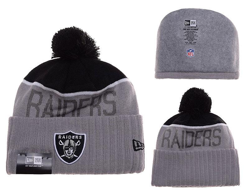 Raiders Grey Fashion Knit Hat SD