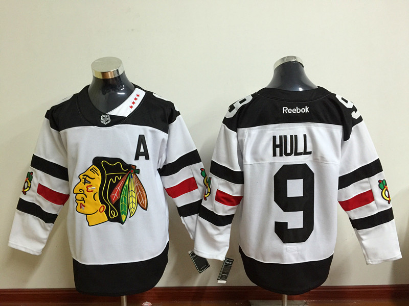 Blackhawks 9 Bobby Hull White 2016 Stadium Series Reebok Jersey