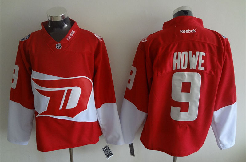 Red Wings 9 Gordie Howe Red 2016 Stadium Series Reebok Jersey