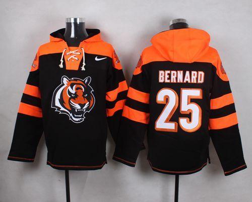 Nike Bengals 25 Giovani Bernard Black Hooded Jersey