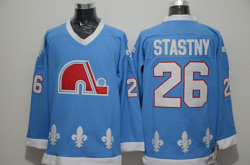 Nordiques 26 Peter Stastny Light Blue CCM Jersey