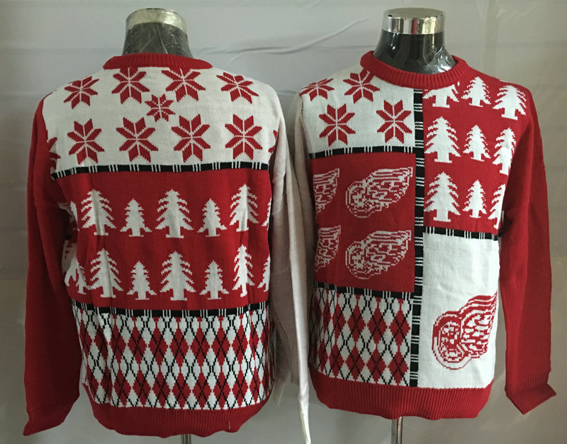 Detroit Red Wings Crew Neck Men's Ugly Sweater