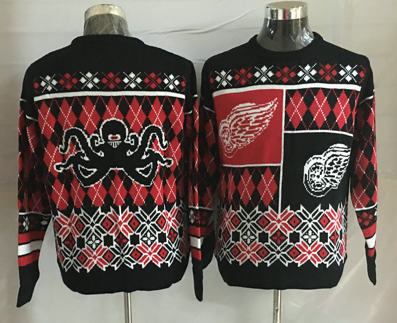 Detroit Red Wings Crew Neck Men's Ugly Sweater2