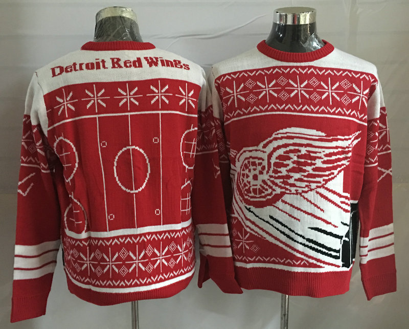 Detroit Red Wings Red Crew Neck Men's Ugly Sweater2