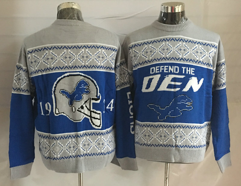 Detroits Lions Crew Neck Men's Ugly Sweater