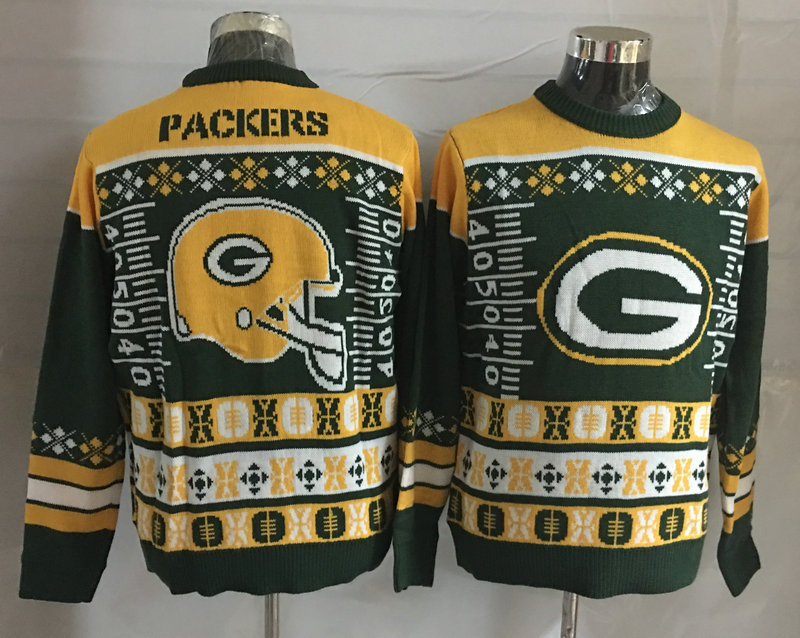 Green Bay Packers Crew Neck Men's Ugly Sweater2