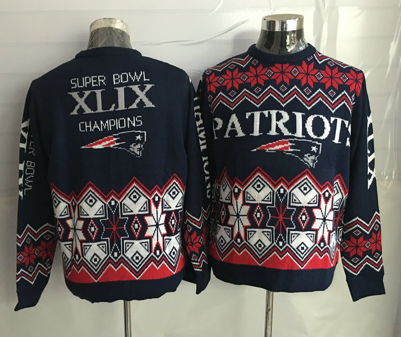 New England Patriots Crew Neck Men's Ugly Sweater