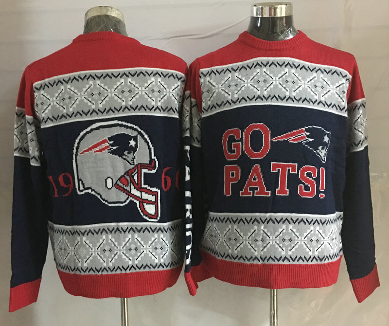 New England Patriots Crew Neck Men's Ugly Sweater3