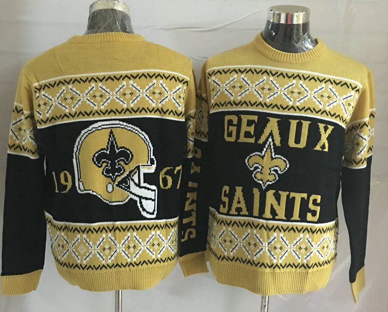 New Orleans Saints Crew Neck Men's Ugly Sweater