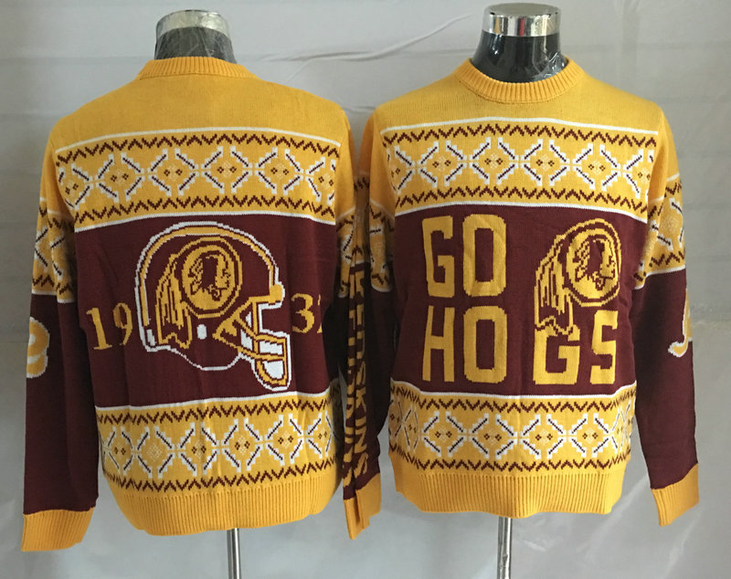 Washington Redskins Crew Neck Men's Ugly Sweater