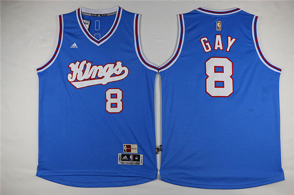 Kings 8 Rudy Gay Light Blue Swingman Jersey