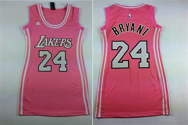 Lakers 24 Kobe Bryant Pink Women Jersey