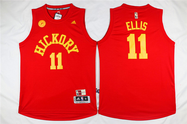 Pacers Hickory 11 Monta Ellis Red Swingman Jersey