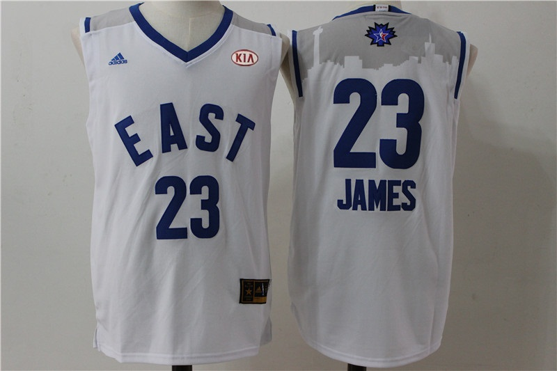 Cavaliers 23 Lebron James White 2016 All Star East Jersey
