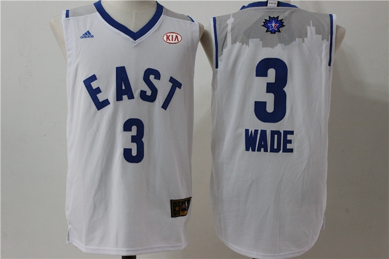 Heat 3 Dwyane Wade White 2016 All Star East Jersey