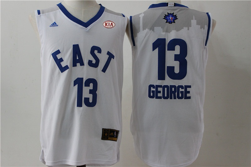 Pacers 13 Paul George White 2016 All Star East Jersey