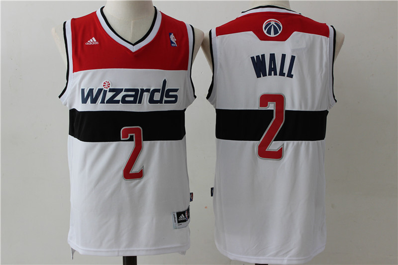 Wizards 2 John Wall White Swingman Jersey