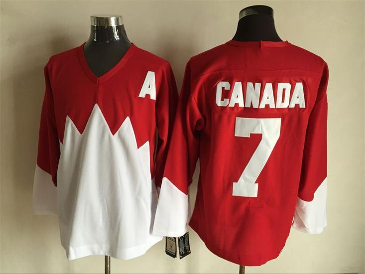 Team Canada 7 Red 1972 Commemorative CCM Jersey