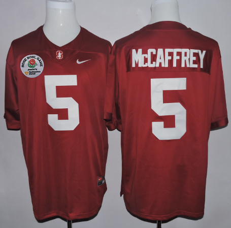 Stanford Cardinal 5 Christian McCaffrey Red 2016 Rose Bowl Jersey