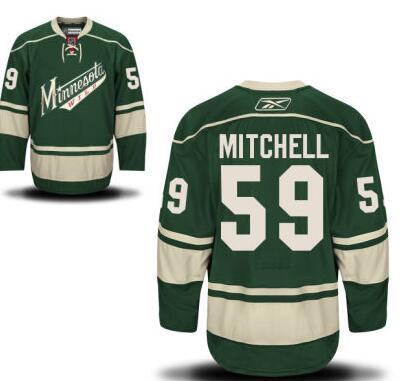Wild 59 Zack Mitchell Green Reebok Jersey