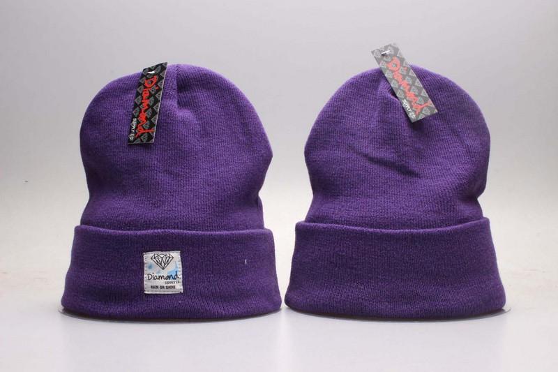 Diamond Purple Fashion Knit Hat YP