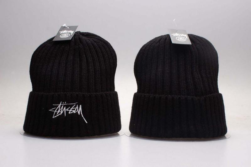 Stussy Team Logo Black Knit Hat YP