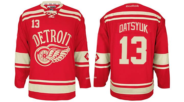 Red Wings 13 Pavel Datsyuk Red 2014 Winter Classic Reebok Jersey