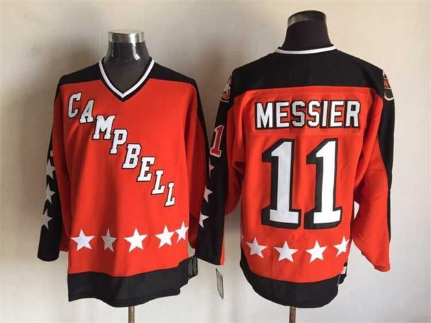 1984 All Star 11 Mark Messier Orange CCM NHL Jersey