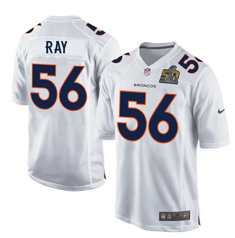 Nike Broncos 56 Shane Ray White Super Bowl 50 Bound Game Event Jersey
